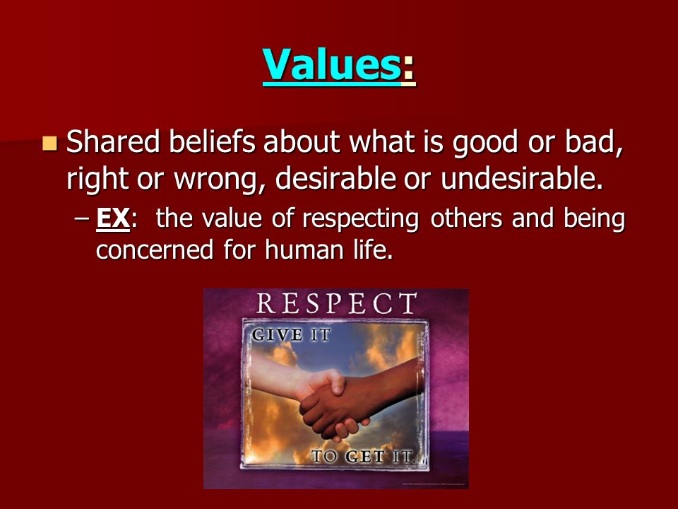 values that guide your life