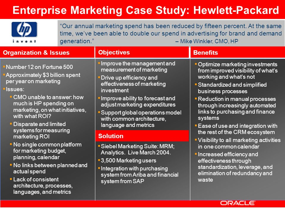 an analysis of hewlett packard Research and markets: 2012 swot analysis of hewlett packard out now.