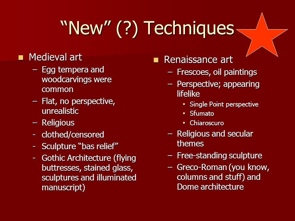 12 Middle Age vs. Renaissance Art