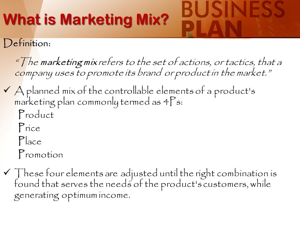 an explanation and the origins of the term marketing mix What is management definitions meaning and features, article posted by gaurav akrani on kalyan city life blog  marketing mix and 4 p's of the marketing.