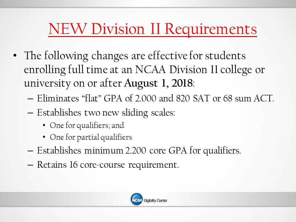 ncaa division membership criteria essay Advertisement division ii volleyball championship nov 29 - dec 1, 2018 aj  palumbo center | pittsburgh, pa tickets.