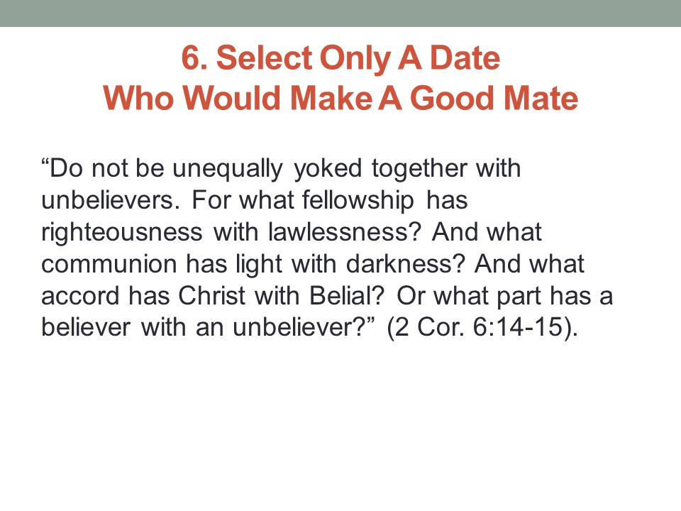 dating an unbeliever christian