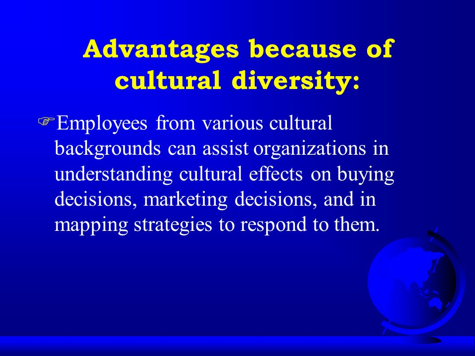 advantages of racial and ethnic diversity The spiritual and cultural advantage of being a multi-ethnic, biracial, & transracial christian family.