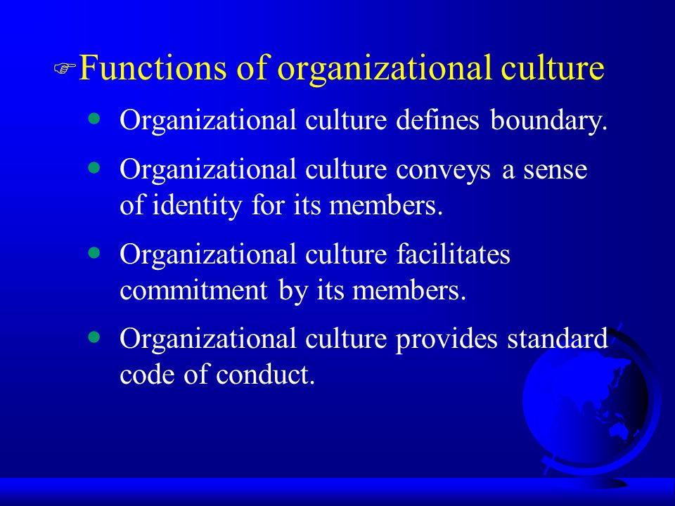 Organizational culture and its counterculture