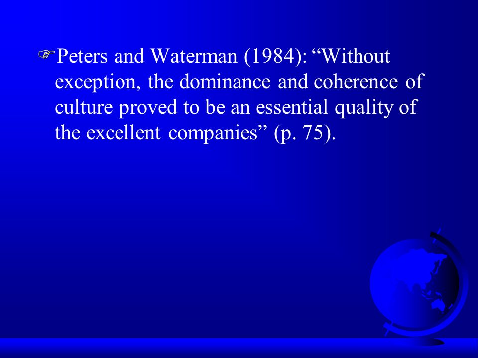 Tom Peters - in Search of Excellence