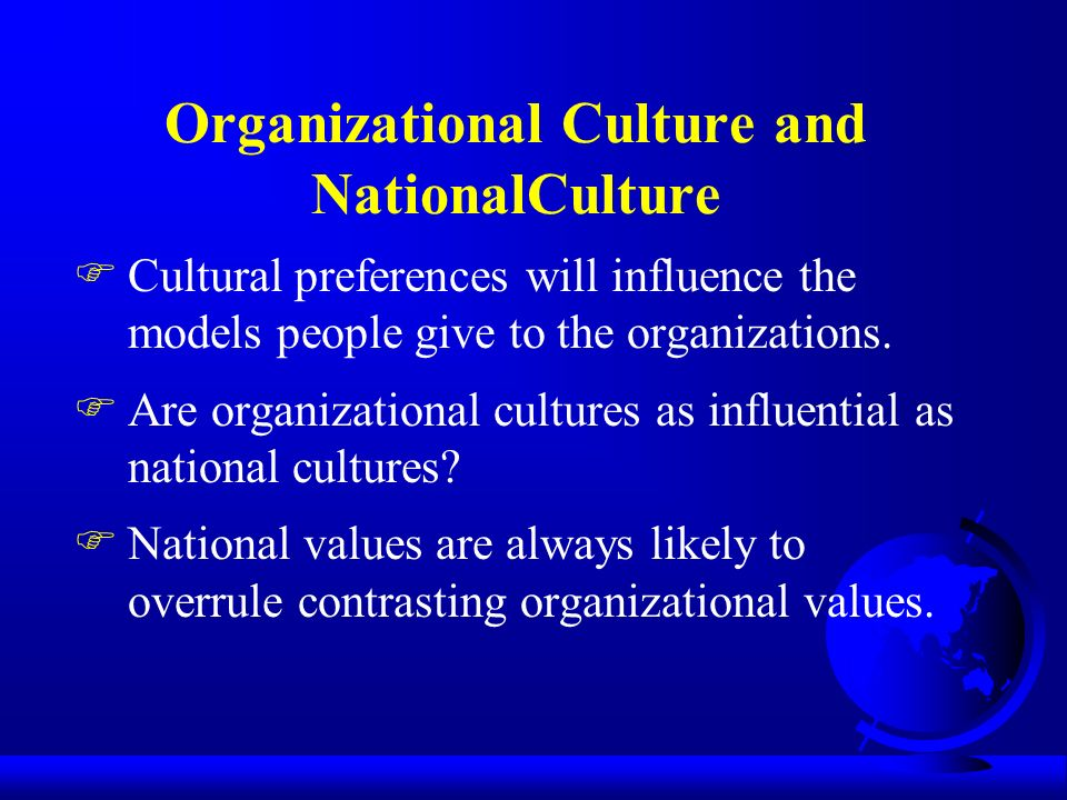 """organizational and cultural values pp Organizational culture during the preopening phase which is reasonable,   culture is a cognitive frame formed by values, attitudes, behavioural norms and  expectations  agreed-upon objectives"""" (greenberg 2011, pp33."""