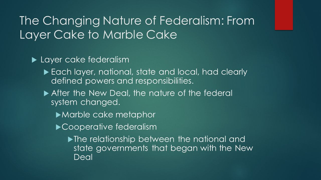 Layer And Marble Cake Federalism