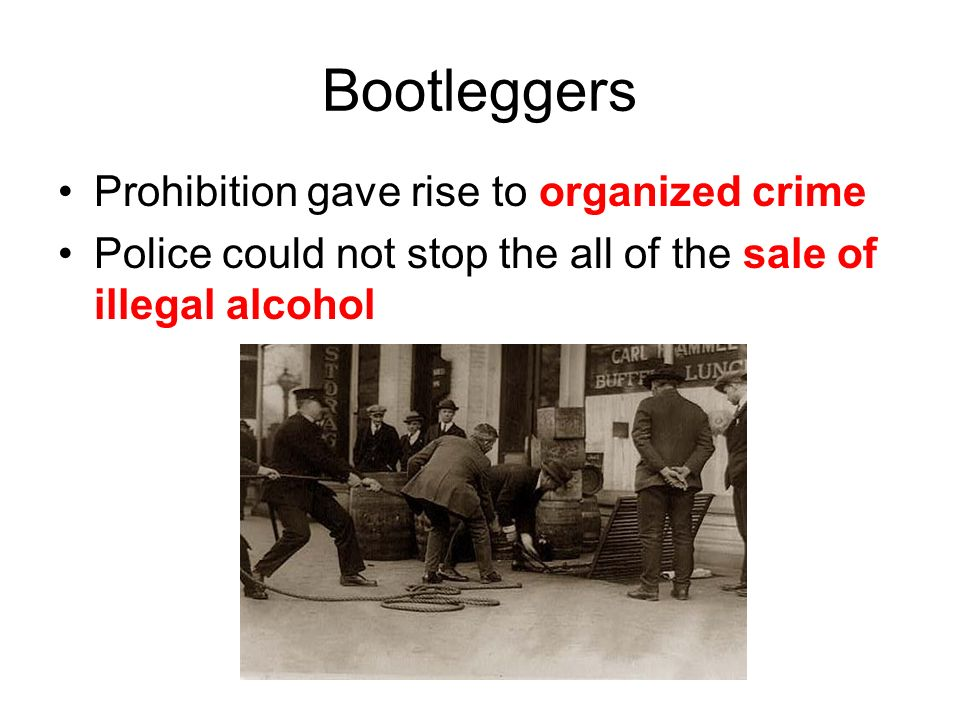prohibition and the rise of organized crime Organized crime is one of the predestined factors of government, especially capitolistic government as long as there is a market for a product making that product unlawful, causes the crime it.