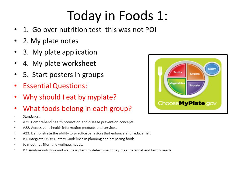 Today In Foods 1 1 Go Over Nutrition Test This Was Not Poi Ppt