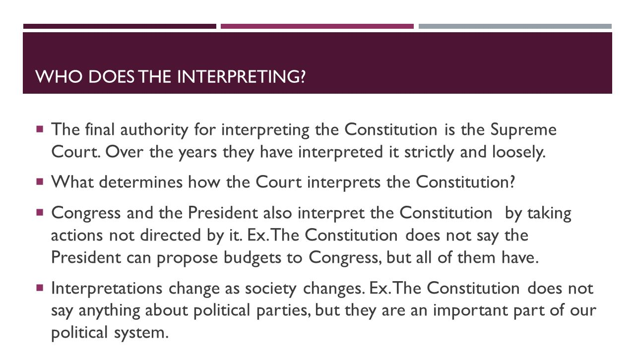 Who does the interpreting