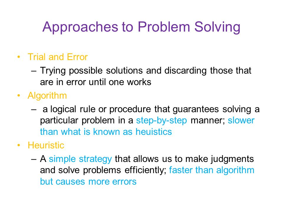 approaches to problem solving Decision making and problem solving  what chiefly distinguishes the empirical research on decision making and problem solving from the prescriptive approaches.