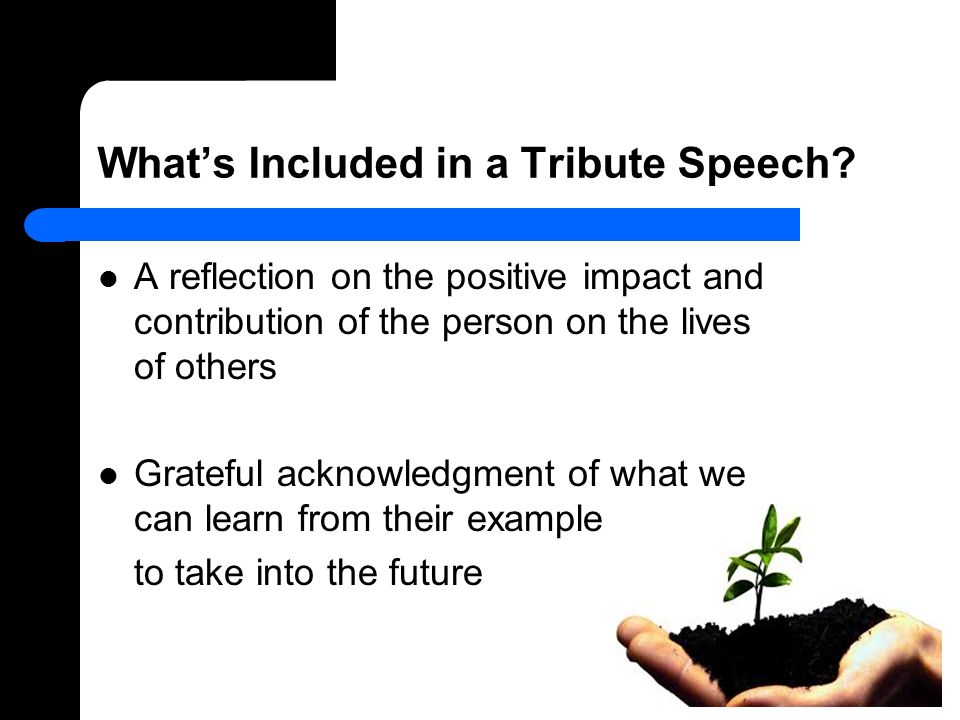 speech reflection Persuasive speech reflection in drama we have been learning about persuasive speeches i did this 2 minute speech on why you should grow your own food.