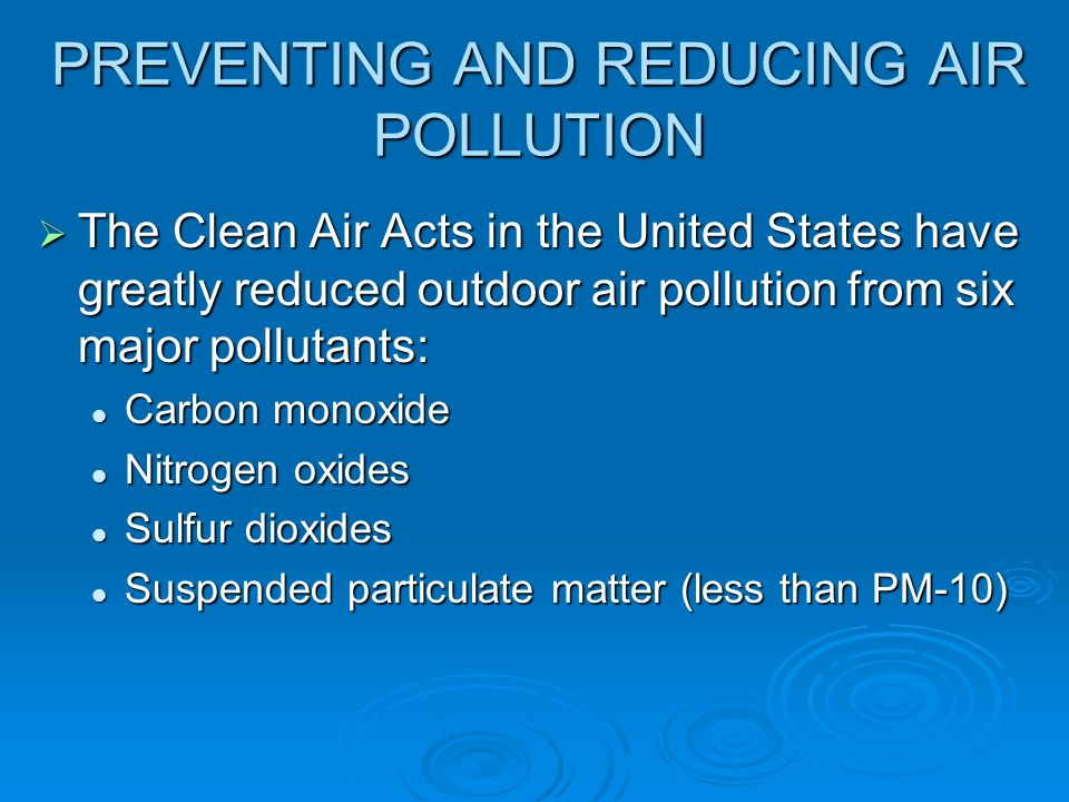 Summary of the Clean Air Act