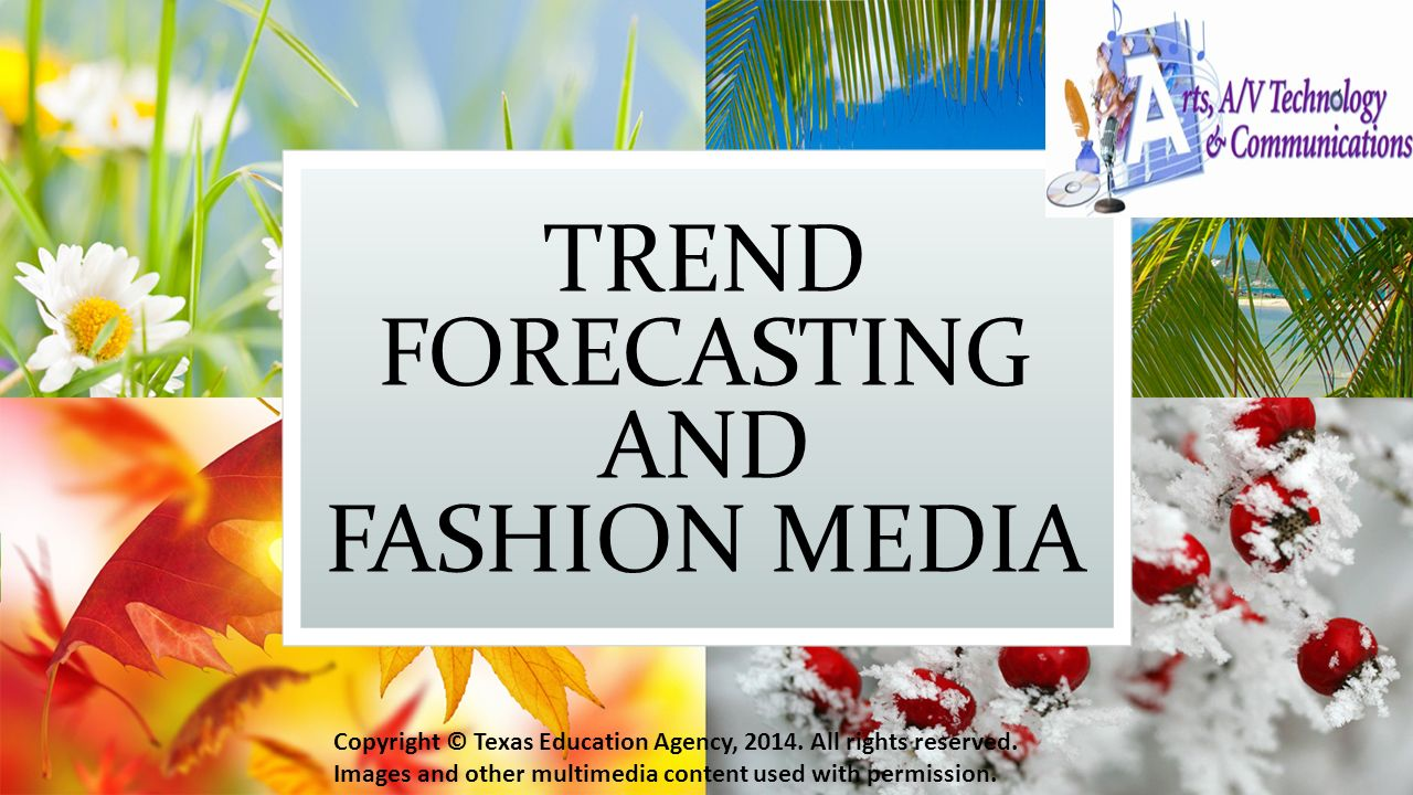 fashion forecasting Everyone in the fashion business needs to develop an essential survival skill: how to interpret the intelligence provided by the fashion forecasting industry, to anticipate and respond to emerging trends.