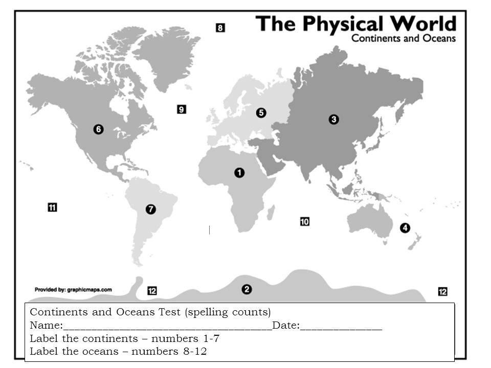 Continents And Oceans Ppt Video Online Download - The physical world continents and oceans