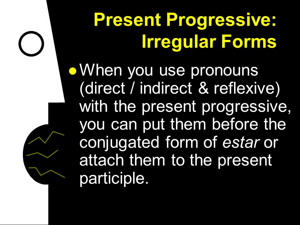 Present Progressive: Irregular Forms