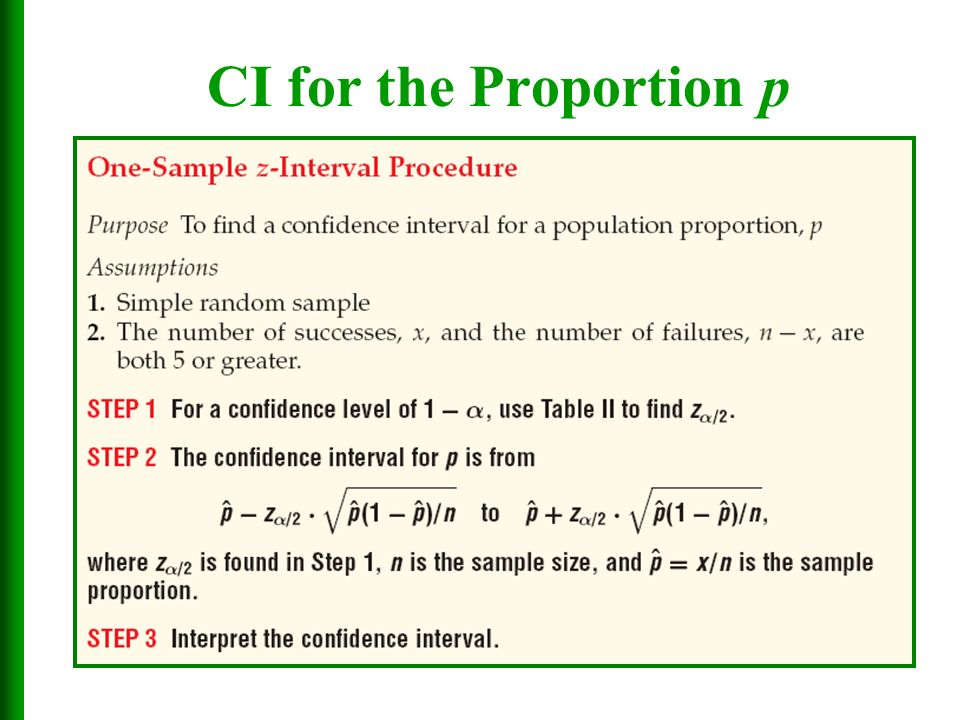 Chapter 7 Estimates, Confidence Intervals, and Sample Sizes - ppt ...