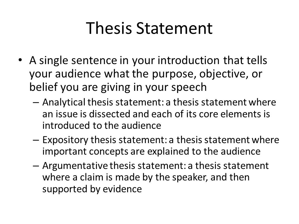Analytical thesis statement
