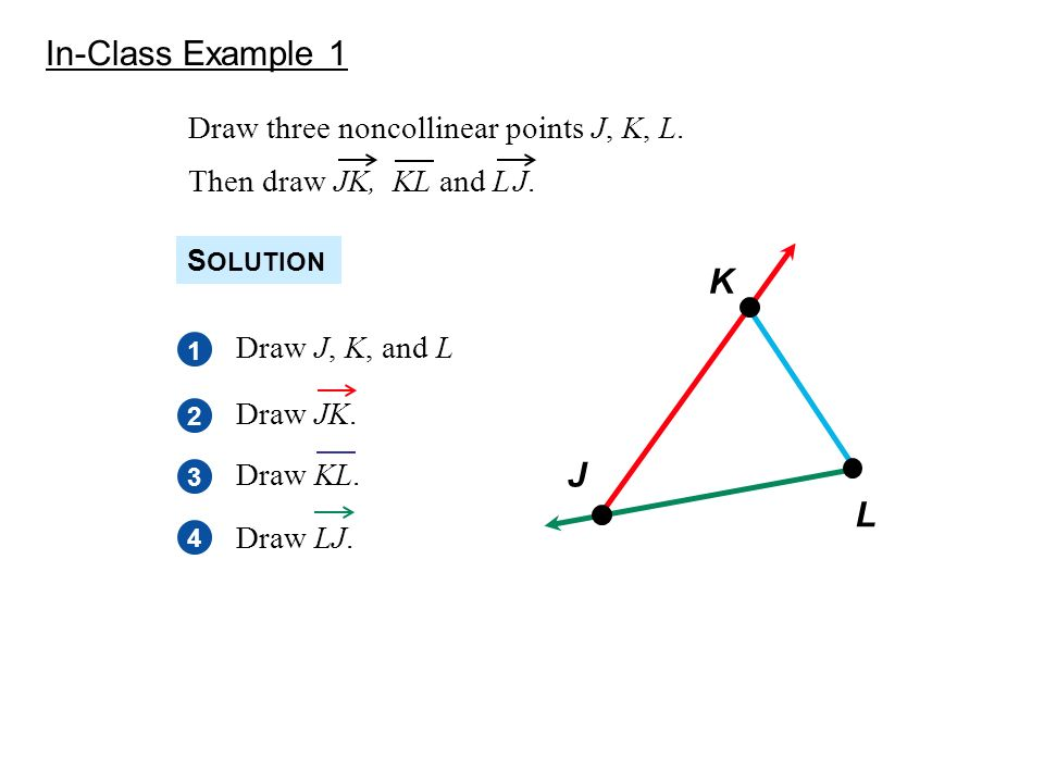 Warmup 1-3 Use the diagram above. 1. Name three collinear ... Three Collinear Points
