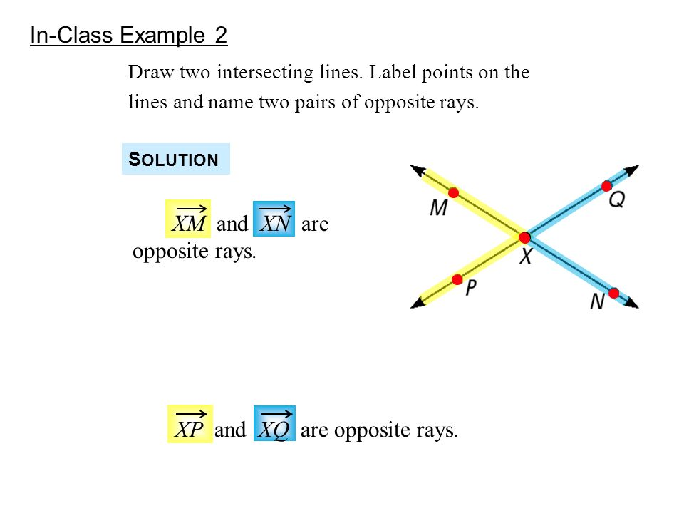 Drawing Lines Segments And Rays : Warmup use the diagram above name three collinear