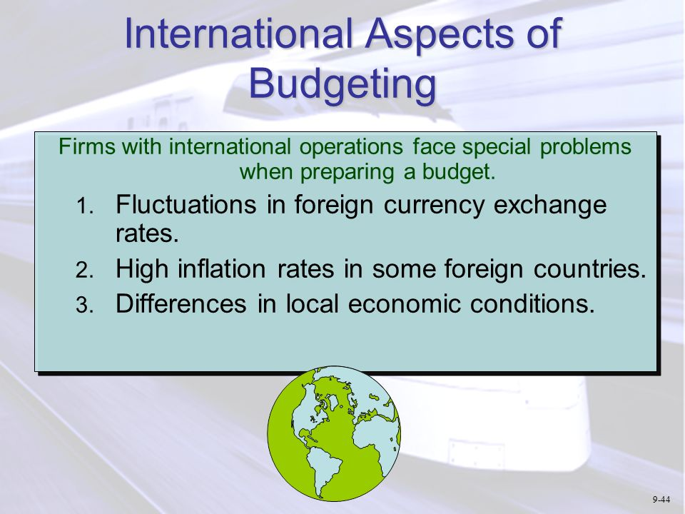 how to show rate of inflation in budget planning