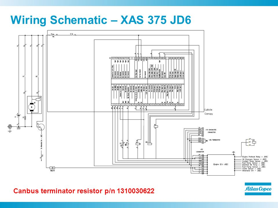 Wiring+Schematic+%E2%80%93+XAS+375+JD6 xas 375 jd6 compressors scott ellinger ppt video online download atlas copco 185 compressor wiring diagram at nearapp.co