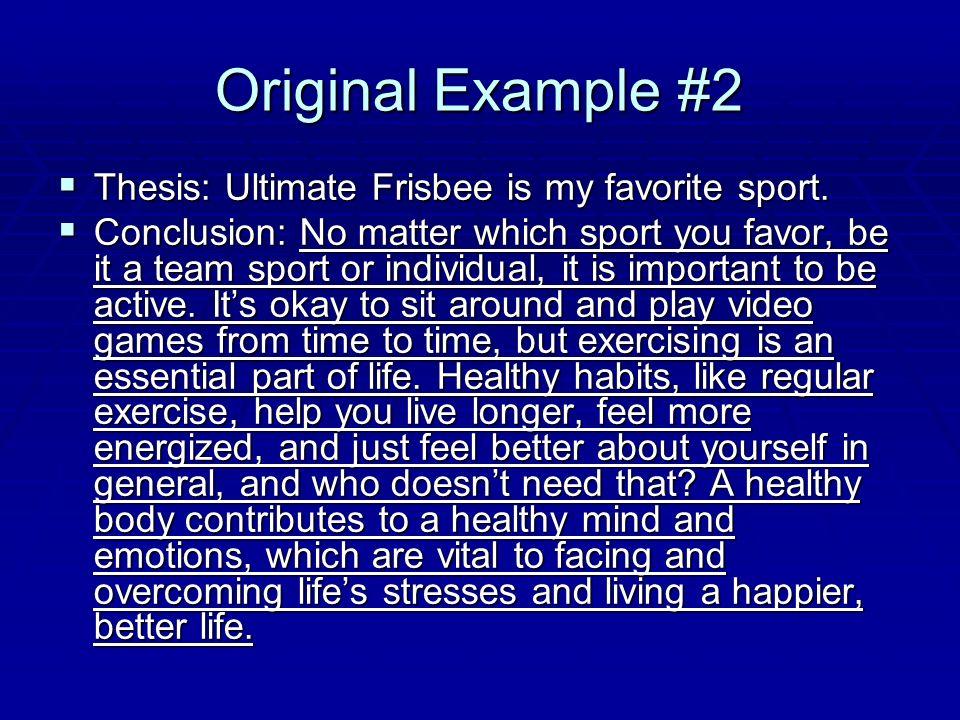 ultimate frisbee essay