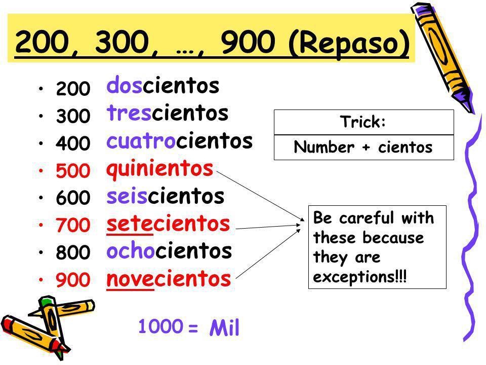 Resultado de imagen de numeros del 200 al 300