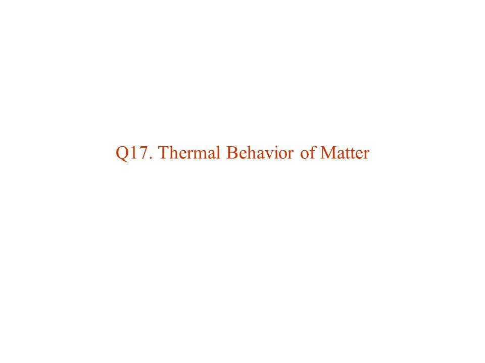 Q17. Thermal Behavior of Matter