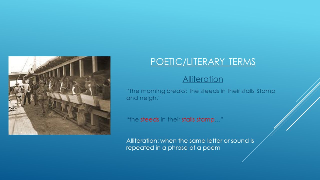 Poetic/Literary terms