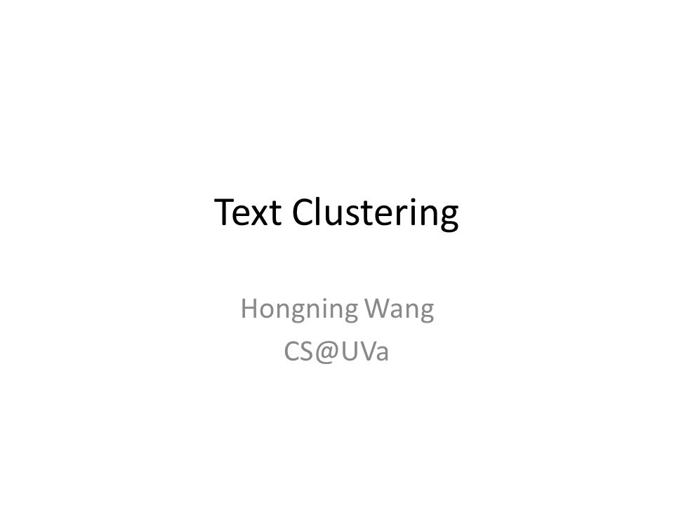 text clustering thesis