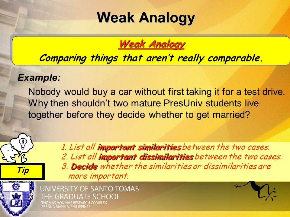 Weak Analogy Fallacy Examples Image Collections Example Cover