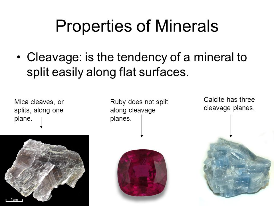 how to find cleavage of minerals