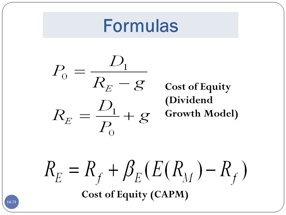 dividend growth model capital asset pricing model modern p