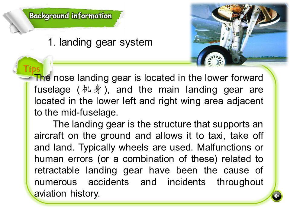 1. landing gear system Tips
