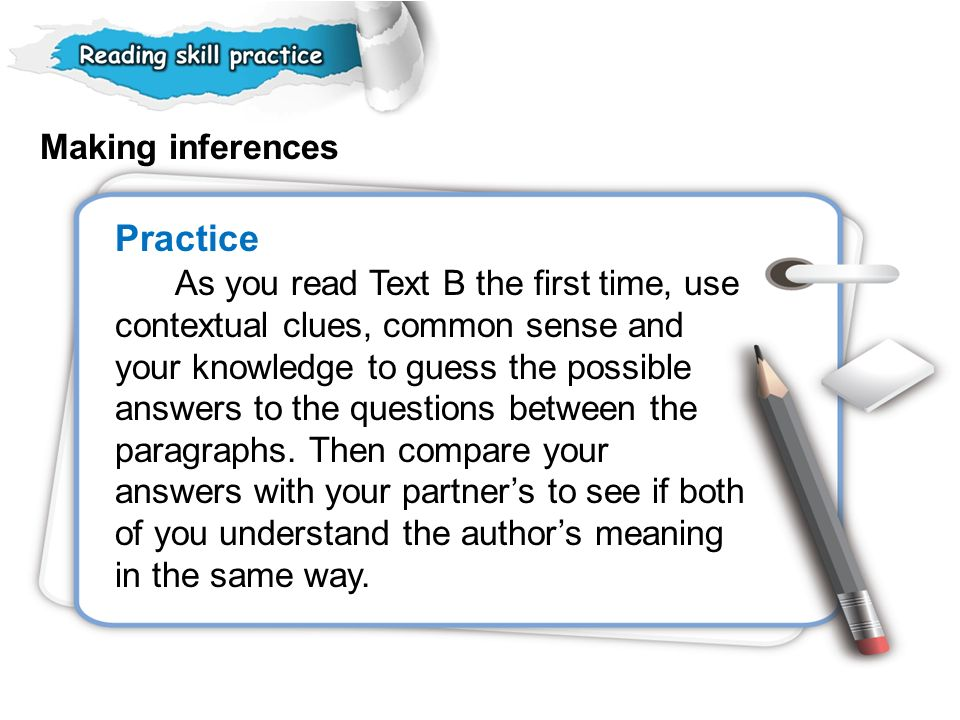 Making inferences Practice.