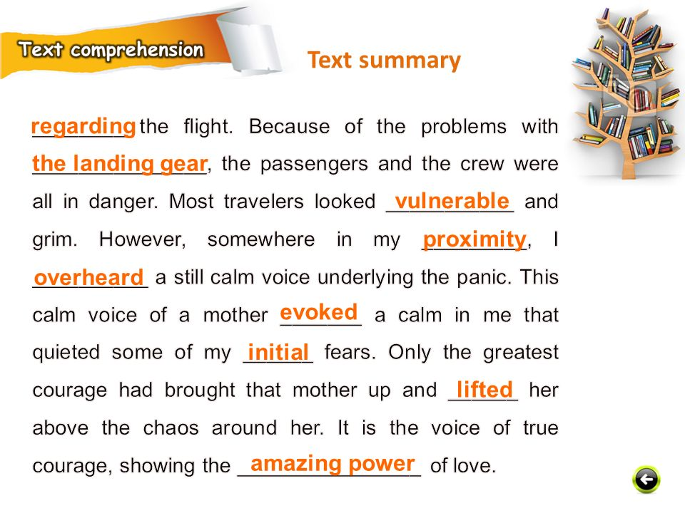 Text summary regarding the landing gear vulnerable proximity overheard