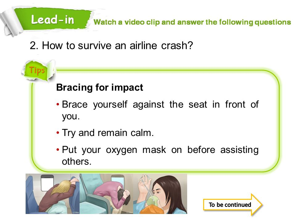 2. How to survive an airline crash