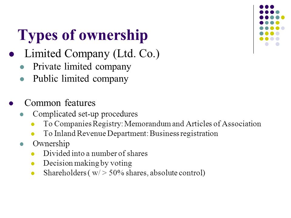 ownership of a company However, the business owner is personally liable for all debts incurred by the business general partnership a general partnership is composed of 2 or more persons .