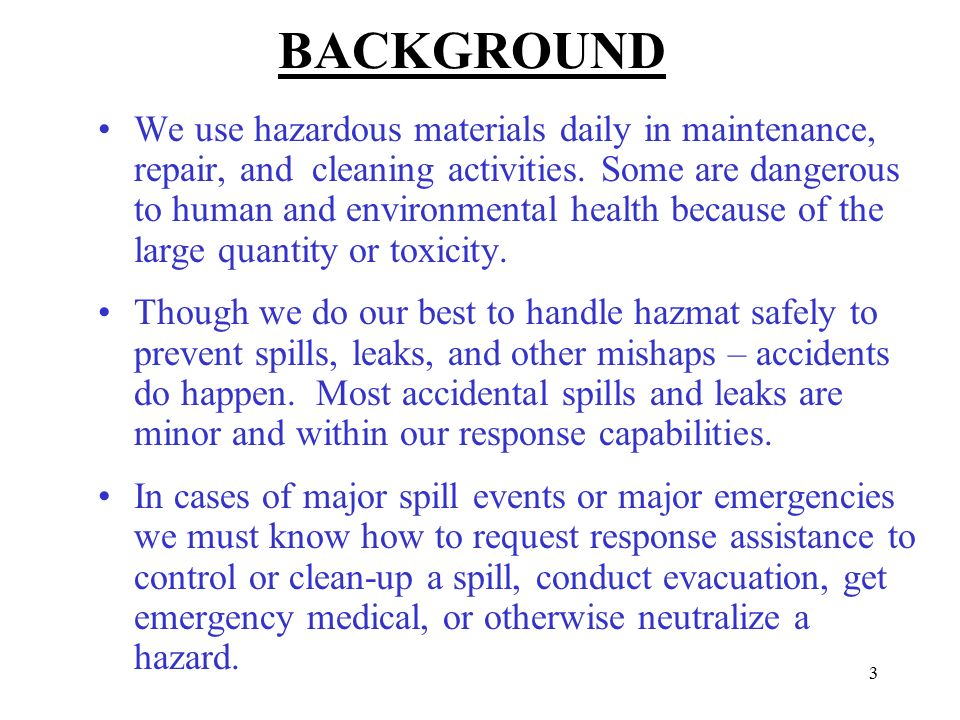 Hazardous Materials Business Plan