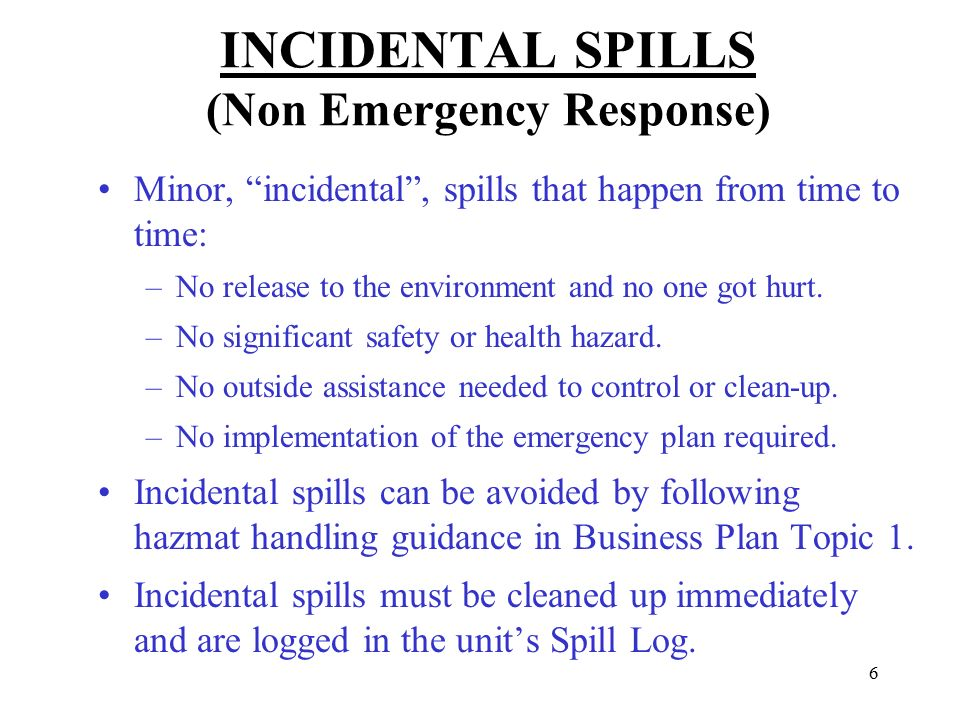 hazardous materials business plan emergency response plan