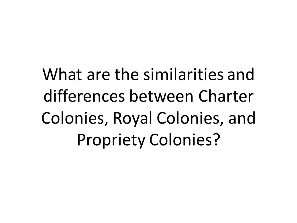 Colonial Development Similarities And Difference : Colonial america ppt download