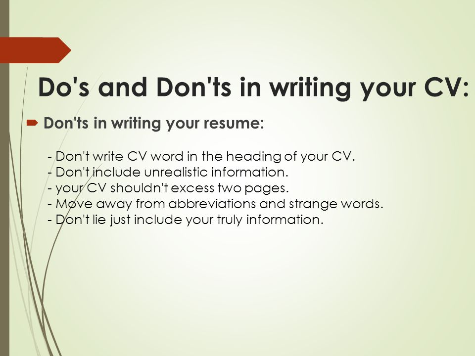 your way toward professional resume ppt
