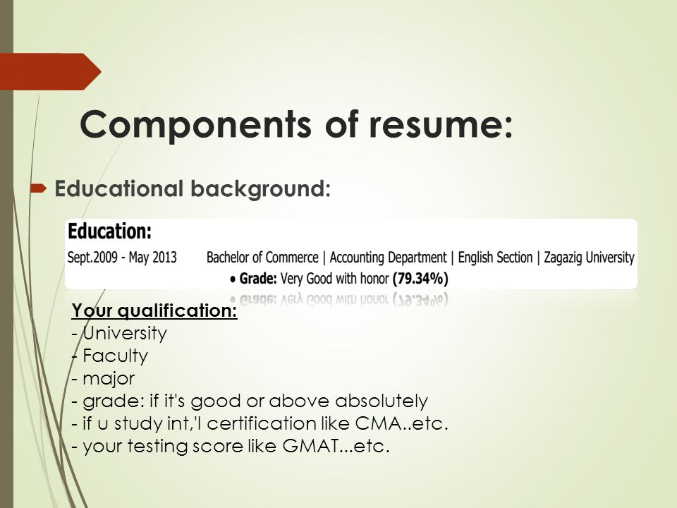 gmat on resume