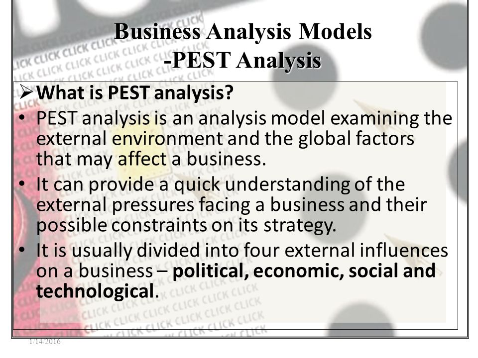Business Analysis Models  Ppt Video Online Download