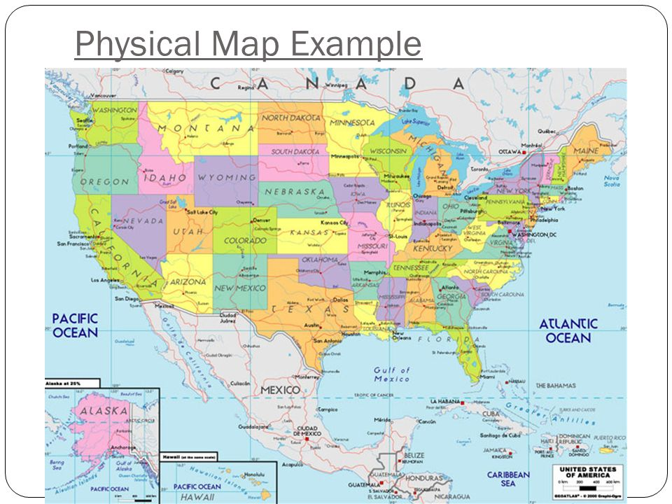 The Purpose Of A Map Is Ppt Video Online Download - North dakota physical map