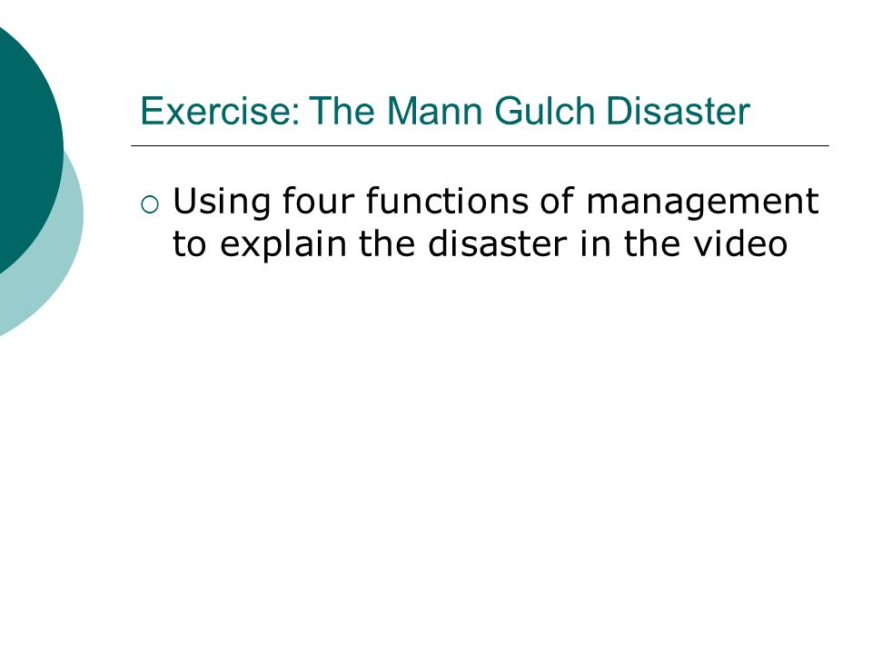 Exercise: The Mann Gulch Disaster