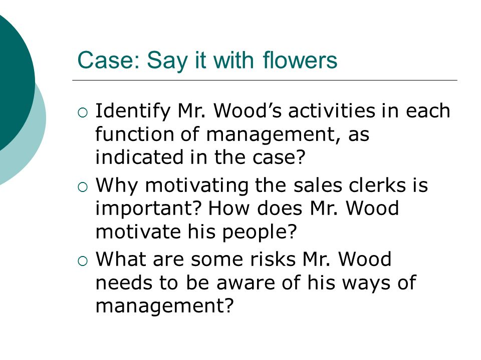 Case: Say it with flowers