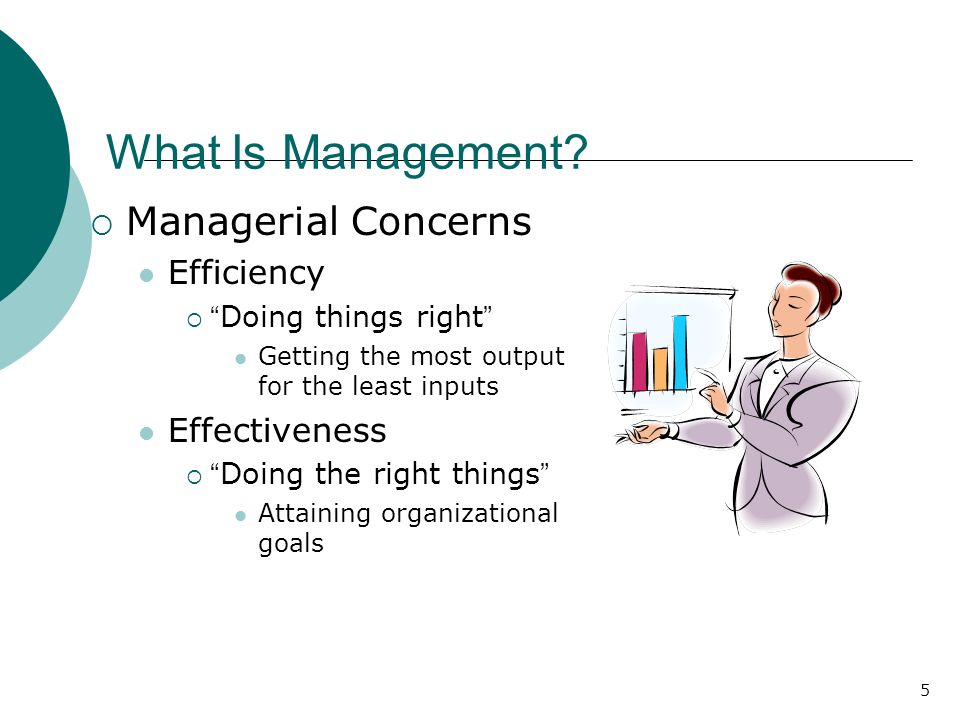 What Is Management Managerial Concerns Efficiency Effectiveness