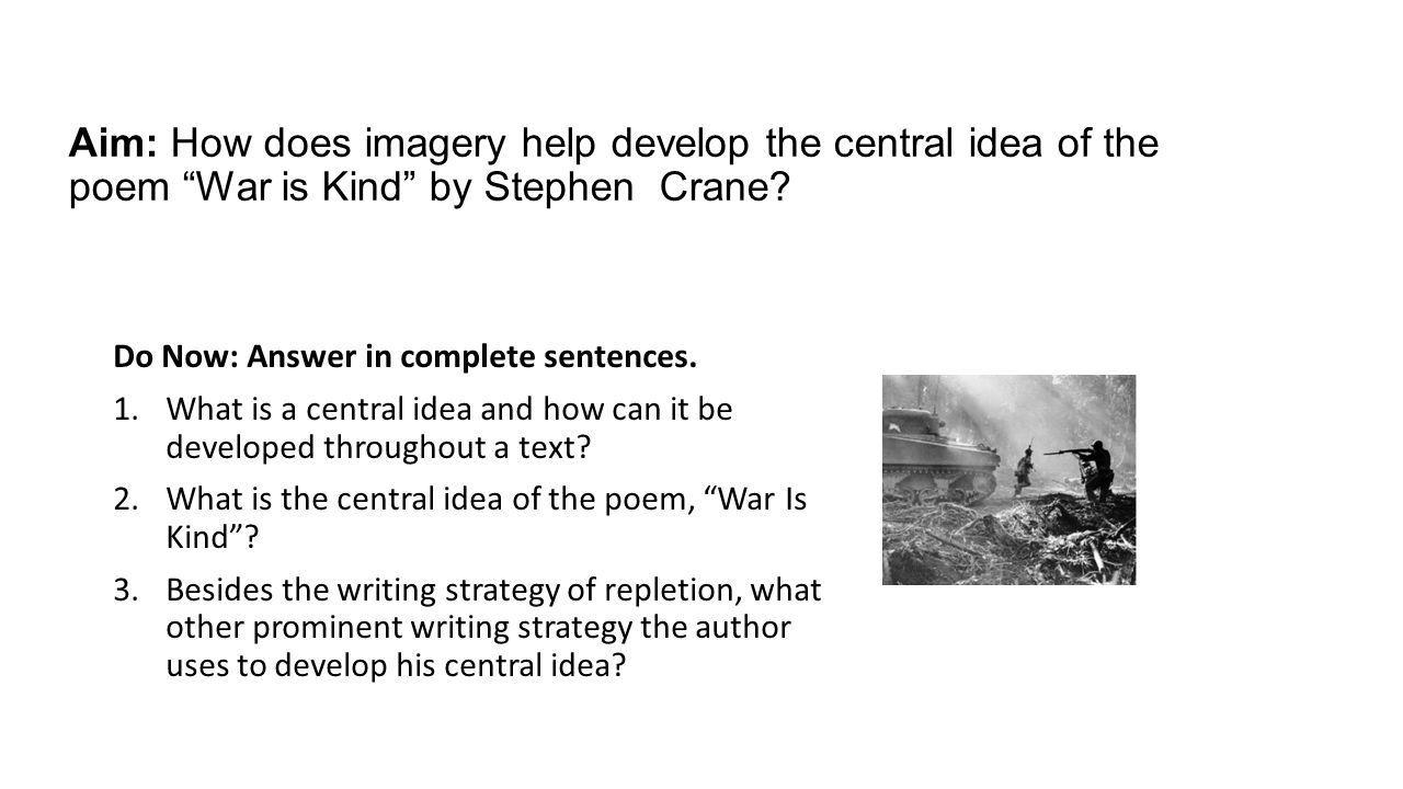 Help writing a war poem